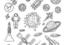 dessin de l'espace