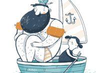 Ahoy! Nautical illustrations / Illustration Inspiration