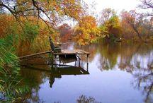 Természetes tükröződések03 & Natural mirrors03 / Épülelek, egyéb, folyó és állóvízben