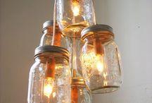 lámpák, gyertyák