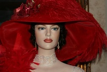 Red Tea Hats by East Angel Harbor Hats / My red hat designs are works of art!   Because each hat is handmade by me, the hat may vary slightly from the hat pictured.  A lot of my hats are 'one of a kind' and in that case, you'll receive the exact hat pictured.