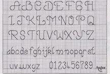 Kruissteek letters