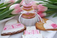 wedding cookies / ciasteczka jako podziękowania dla gości https://www.facebook.com/pages/Sweet-Project/480318932049151?ref=hl