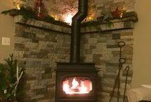 Wood stove hearth