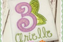 Birthday and Numbers appliques