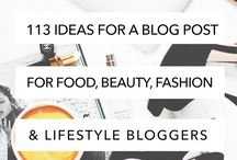 Blog Post Ideas ♡ / a whole load of blog post ideas