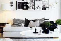 Black white grey house decor