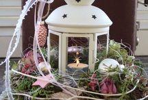 Lucernička jako vánoční dekorace