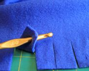 fleece blanket edging