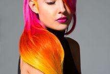 Cores espetaculares! / Tinturas exóticas, ombré hair, cabelo azul, verde, roxo, rosa, da cor que você quiser!
