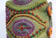 Textile embroidery cuff