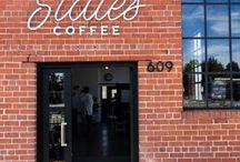 Brick Cafe Exterior Coffee Shop