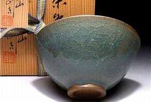 Celadon japanese tea ware