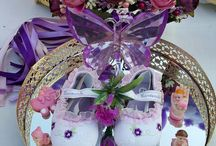 baby shower purple pappa