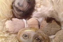 ART - Stone work / Inspiration using stones, and painted stones / by Julie Richards