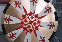 rosoni decorati / Prodotti artigianali  per decorazioni di interni ed esterni