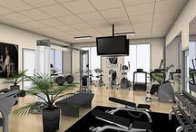 Inspiring Home Gym Ideas / These is about inspiration for home gyms.