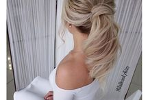 Bridal Hair Trend: Textured Ponytail / Revamp the classic ponytail with beauty waves, braids and pulled out bangs for a textured, effortless elegance!