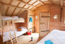 Intérieurs de cabanes