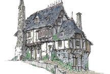 art_old_houses