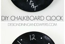DIY Chalkboard / The wonderful things you can make and redecorate with CHALKBOARD and CHALKBOARD PAINT