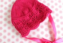 Knitted Baby Bonnets