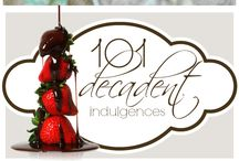 Decadently Wicked Treats / Delicious desserts that will delight your guests..  Rich and tantalizing flavours that will stimulate the taste buds.  Add decadence to your evening dinning pleasures by introducing them to a wickedly seductive +  indulgent experience.