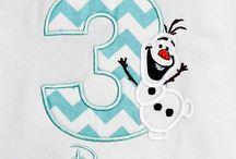 Frozen Birthday Shirts and Onesies