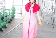 Aerith Gainsborough: FF7 / From original Final Fantasy 7 videogame. I don't like the plot, but I loved some of the characters, the minigames and the atmosphere from the combination of graphics and music.  #aerith #aeris #gainsborough #ff7 #finalfantasy #videogame #cosplay #rydia