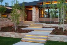 Front outdoor stairs/landscaping