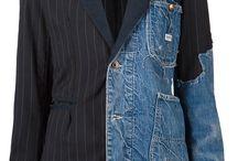 metà giacca meta'giubbotto jeans