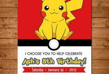 Pokémon feestje Damin 7 jaar