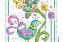 Punto croce schemi / cross stitch pattern Frosen Elsa