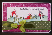 Wavy Santas / Cards made using our 'Wavy Santas' stamp set