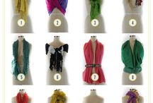 Different ways to tie scarfs
