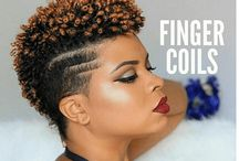 Finger Coils / Short natural hair