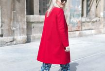 Tommy Hilfiger Camouflage Jumpsuit + Red ZARA coat / http://pavlistyle.com/camouflage-jumpsuit-red-coat-for-nyfw/ / by PavliStyle