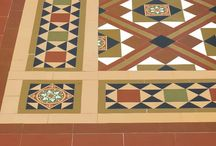 Victorian Floor Tiles - Traditional Patterns / Floor tile patterns from the Victorian and Edwardian eras, these are authentic replicas from this period using the natural clay clours of red, black, white, brown and buff.