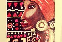 """KETTY ART """" BELLEZZA D'AFRICA """" / La bellezza  e il fascino della donna africana"""