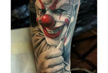 Клоунские татуировки