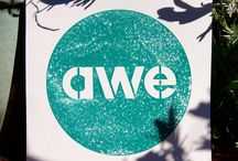 Art Week Exeter logo art / Art Week Exeter and FabLab Devon provided some physical versions of the AWE logo cut from a variety of materials to participating artists. This is the result…