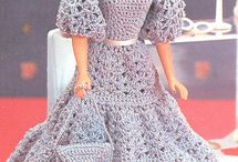 Barbie type dolls - clothes to knit, sew or crochet etc