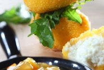 Κροκέτες με τυριά & σάλτσα πορτοκάλι-κύμινο | Γιάννης Λουκάκος