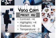 Instagram filters vsco
