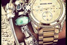 watch&pandora bracelet