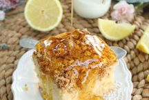 Easy cakes / Greek lemon and Tigard with oat crust