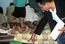 Geraffineerde stelen tijdens de massage