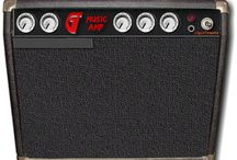 The GT Music Amp / The GT Music Amp features working knobs, buttons, lights and switches, includes fully functional DVD and MP3 players and an Input jack that reveals one of the actual GT guitars with a stompbox pedal that really works!