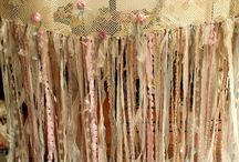 rag and lace curtian or garland
