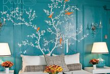 Inspiration / We're just celebrating wall stickers here, these are not our products.